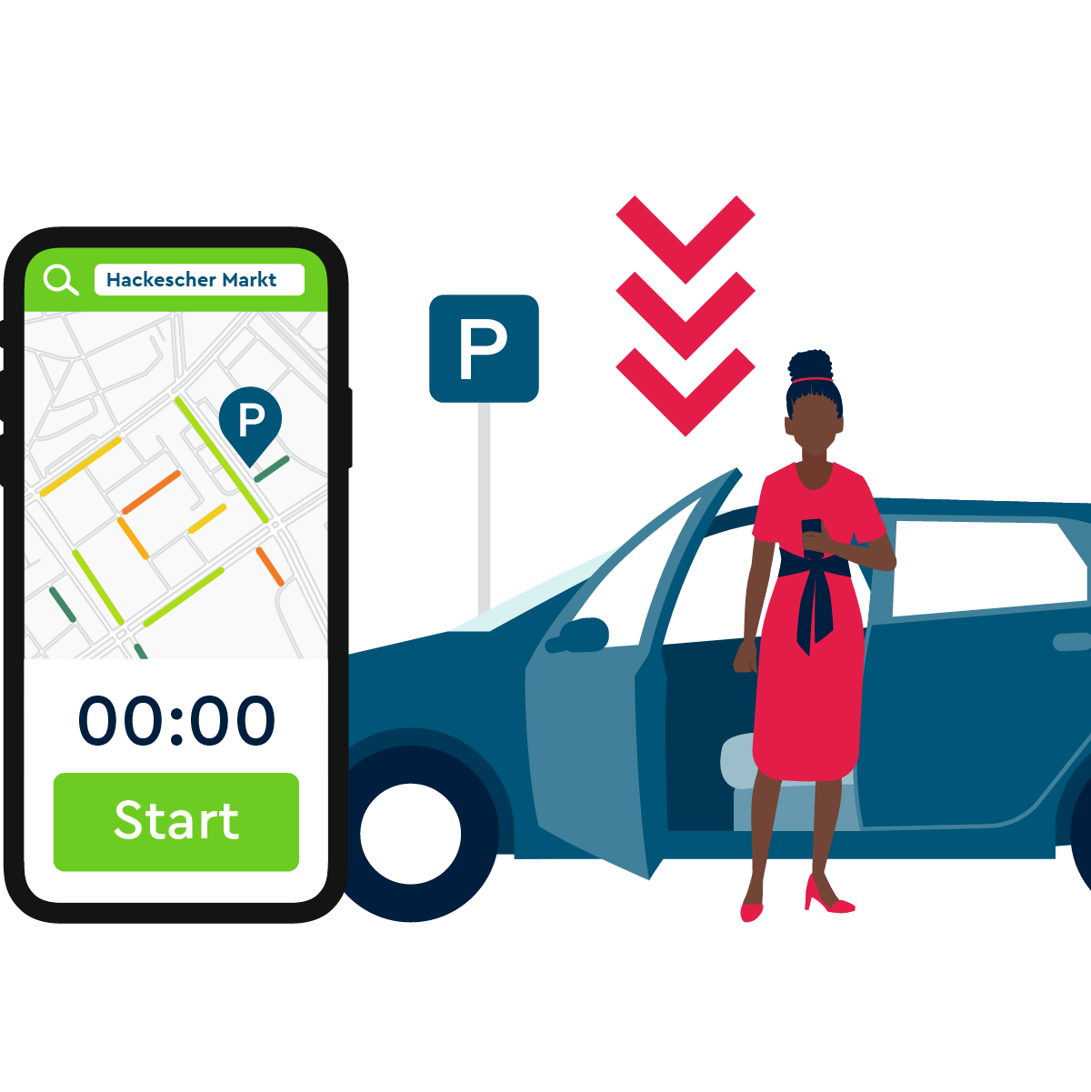Find, park and pay your parking spot with PARK NOW